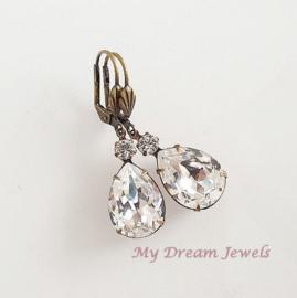Vintage style oorhangers met Swarovski Crystal