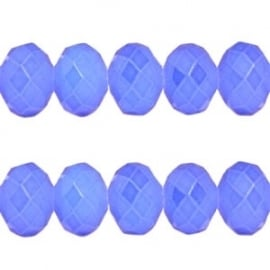 Facet Kraal Vintage Licht Pastel Blauw 8x6mm