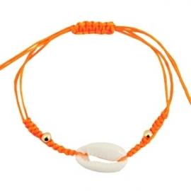 Armband met schelp Oranje