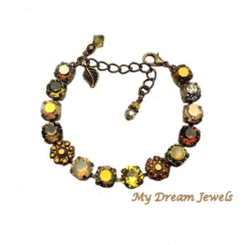 Armband Swarovski Vintage Flower Golden Autumn