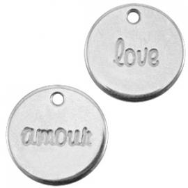 """DQ Bedel Amour/Love """"Antiek Zilverkleurig"""""""