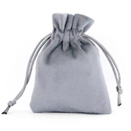 Sieraad cadeau zakje Velvet Grey