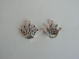 Bedel Antiek Zilverkleurig Kroon voor Swarovski puntstenen PP14 en PP18