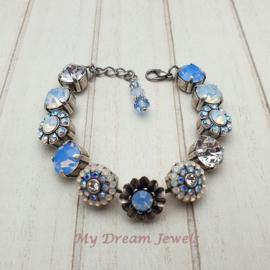 "Luxe Swarovski Armband  ""Fairy Lily Blue """
