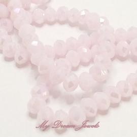 Facet Kralen Light Pink AB 8x6 mm per 5 stuks