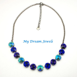 Ketting Swarovski Magic Purple Blue Turquoise
