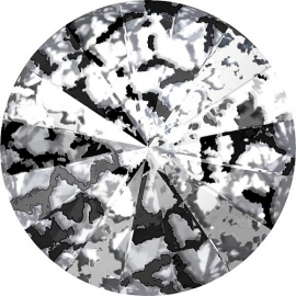 Swarovski 1122 Rivoli Crystal Black Patina 12mm/2st