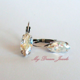 Swarovski Oorbellen Navette Crystal Moonlight