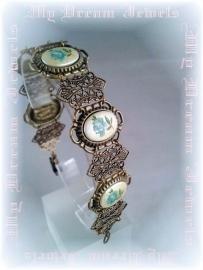 Armband Vintage style Blue Romance