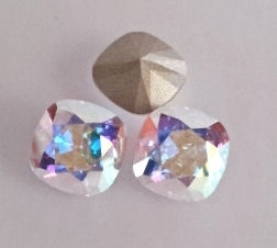Swarovski 4470 Square Crystal AB 10x10mm