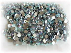 Swarovski 2028 platte steen Air Blue Opal AB 4,6mm per 12 stuks