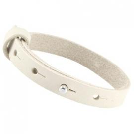 LC Armband Enkel Nubuck Leer 10mm Mystic Beige
