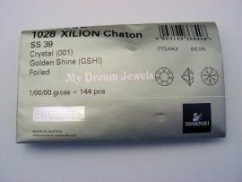 Swarovski 1028 puntstenen Crystal Golden Shine 8,2mm Volle Verpakking