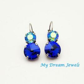 Oorbellen Swarovski Magic Turquoise Blue