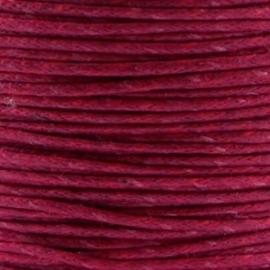 Waxkoord 1mm Aubergine Red prijs per meter