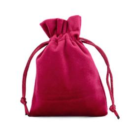Sieraad cadeau zakje Velvet Red Port