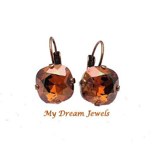 Oorbellen Swarovski Crystal Copper