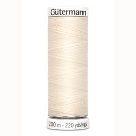 Gütermann 200 m allesgaren kleur 414 ecru