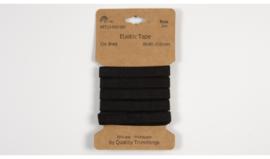 Kaartjes elastiek 1cm breed zwart 3 meter