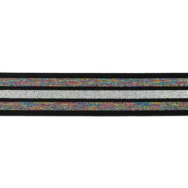 Regenboog glitter elastiek
