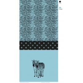 zebra blauw