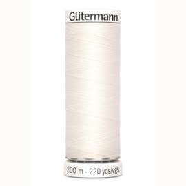 Gütermann 200 m allesgaren kleur 802 creme