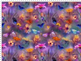 vlinders paars GOTS