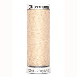 Gütermann 200 m allesgaren kleur 6 donker ecru