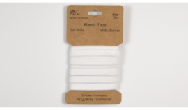 Kaartjes elastiek 3meter 1cm breed wit