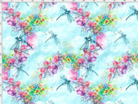 pastel libelles
