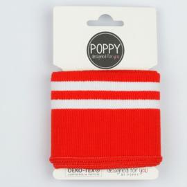 Cuffs poppy rood