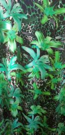 viscose tricot bladeren groentinten