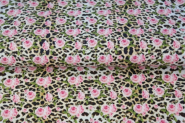 100 katoen panter rozen