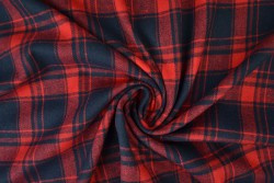 Flannel ruit rood-donkerblauw
