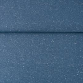 glitterboordstof jeansblauw
