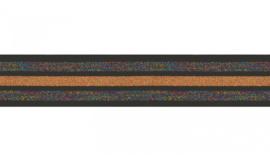 regenboogglitter elastiek brons