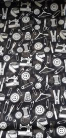 zwart - wit naaigereedschap