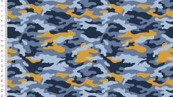Cool boys  legerprint oker/ blauw