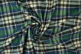 flannel ruit groen-blauw