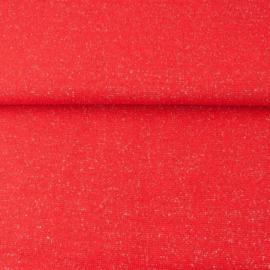 glitterboordstof rood