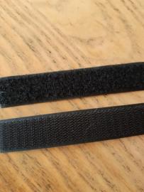 Naaibaar klittenband zwart 2 cm breed