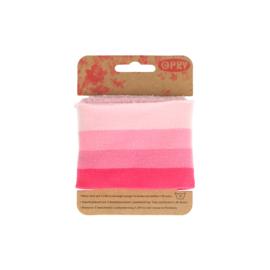 Boordjes streep roze opry
