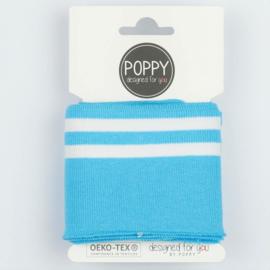 Poppy cuffs aquablauw