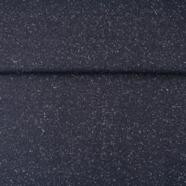 glitterboordstof donkerblauw