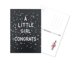 Postcard Litle Girl