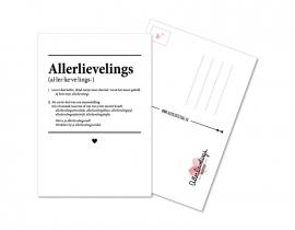 Postkaart Woordenboek