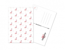 Postcard Flamingo Pattern