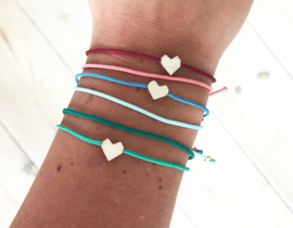 Armband - Pretty Little - petrol/ijsblauw