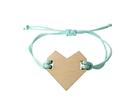 Bracelet Heart Ice blue