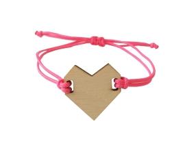Bracelet heart Pink